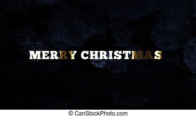 MERRY CHRISTMAS - text animation