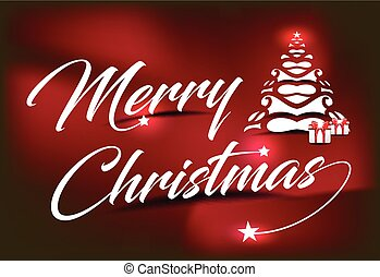 Merry Christmas Text Background vector illustration