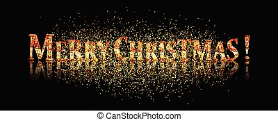 Merry Christmas text. Calligraphic Lettering. New year and...