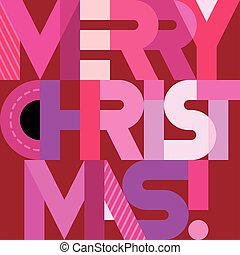 Merry Christmas text design