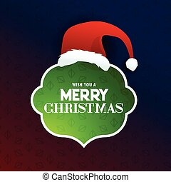 merry christmas text frame with santa claus design