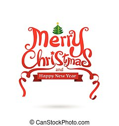 Merry Christmas text free hand design isolated on white background vector illustration 001