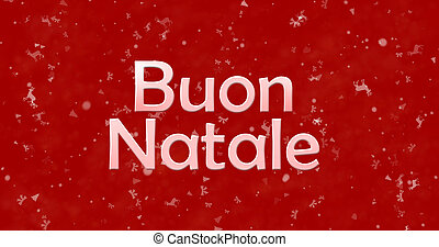 "Merry Christmas text in Italian ""Buon Natale"" on red..."
