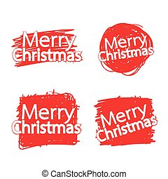 Merry Christmas text Lettering design