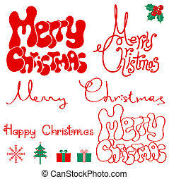 Merry Christmas text. - Merry Christmas text isolated on...