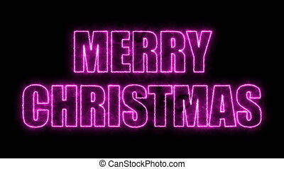 Merry christmas text on black, 3d render background,...
