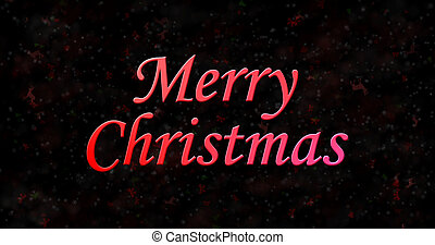 Merry Christmas text on black background