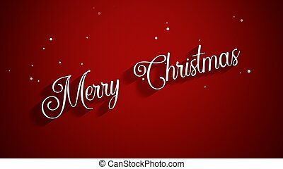 Merry Christmas text on red background