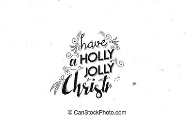 Merry Christmas text quote hand writing animation