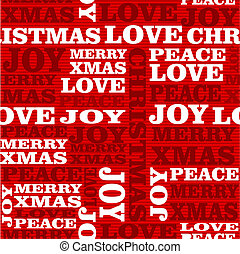 Merry Christmas text seamless pattern.