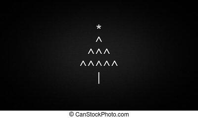 merry christmas text symbols on laptop screen, 4K seamless...