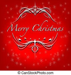 Merry Christmas themed card