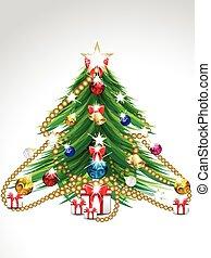 merry Christmas tree background