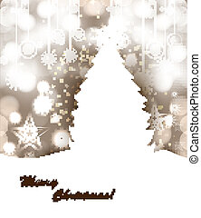 merry christmas tree bright colorful Vector