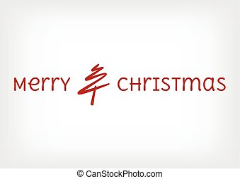 merry christmas tree line with text
