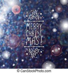 Merry Christmas - typographic element