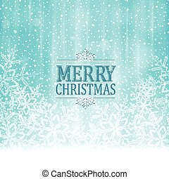 Merry Christmas typography winter wonderland background