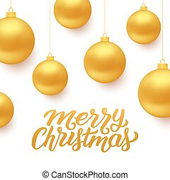 Merry Christmas vector background with balls