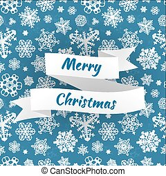 Merry christmas vector card with snowflakes