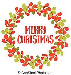 Merry Christmas vector card