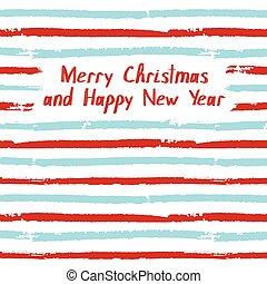 Merry Christmas. Vector greeting card