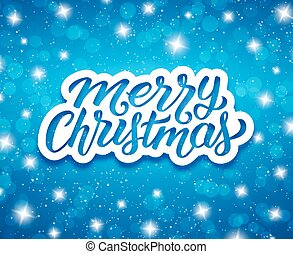 Merry Christmas. Vector greeting card design