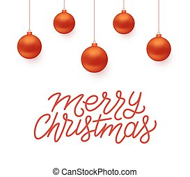 Merry Christmas vector greeting card design