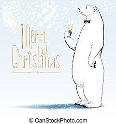 Merry Christmas vector greeting card