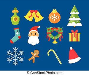 Merry Christmas Vector Icon Pack