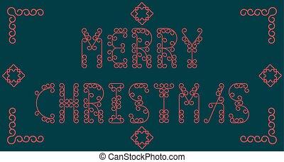 Merry Christmas. Vector illustration