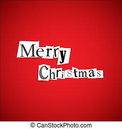 Merry Christmas - vector illustration