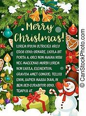 Merry Christmas vector Santa gifts greeting card