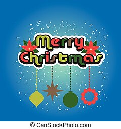 Merry Christmas Vintage design background card