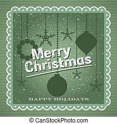 Merry Christmas Vintage design background card