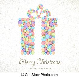 Merry Christmas watercolor gift card background - Merry...