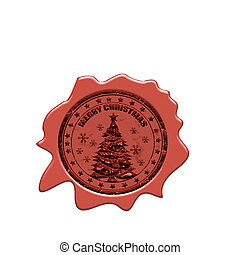 Merry christmas wax seal