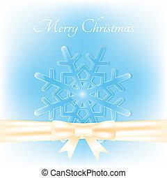 merry christmas white snowflake