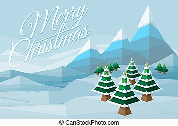 Merry Christmas Winter Background Scene