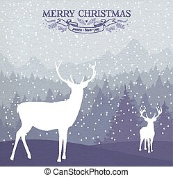 Merry christmas winter card holiday
