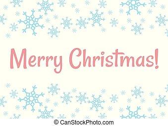 Merry Christmas winter snowflakes vector holiday postcard