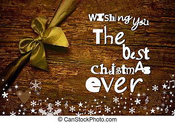 Merry Christmas wish message postcard - Christmas greeting...