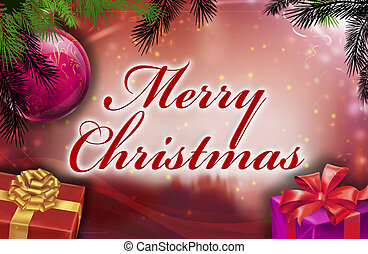 Merry christmas wishes with background