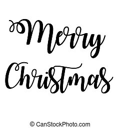 Merry Christmas with a white background