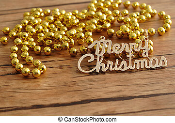 Merry Christmas with beads