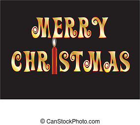 MERRY CHRISTMAS WITH CANDLE