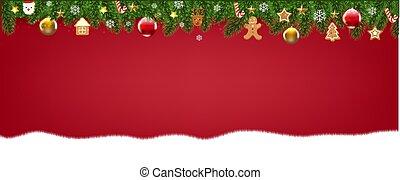Merry Christmas With Christmas Border