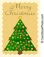 Merry Christmas with christmas tree