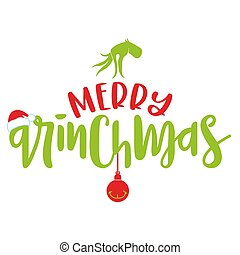 Merry Christmas with Grinch - Calligraphy phrase for ...