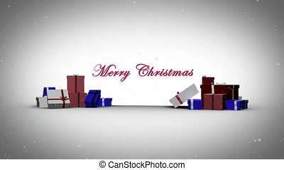 Merry christmas with happy new year