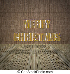 Merry Christmas with limestone wall